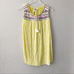 Anthropologie One September Embroidered Tank Top M
